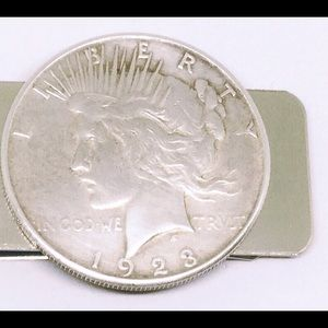 Other - Authentic Peace Silver Dollar Coin Money Clip